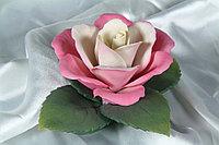 Фарфоровый цветок Королевская роза. Италия. Ручная работа