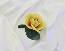 Фарфоровый цветок Розочка. Италия. Ручная работа