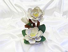 Фарфоровый цветок Магнолии. Италия. Ручная работа