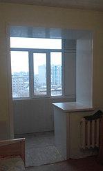 Обшивка балкона декоративной панелью по ул. Павлова 20 1