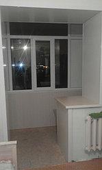 Обшивка балкона декоративной панелью по ул. Павлова 20 5