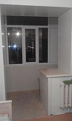 Обшивка балкона декоративной панелью по ул. Павлова 20 16