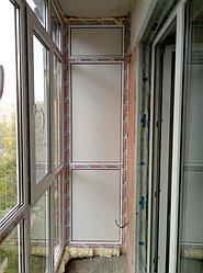 Установка балконного витража с обшивкой стен декоративной панелью по адресу проспект Республики 11 7