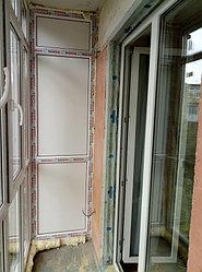 Установка балконного витража с обшивкой стен декоративной панелью по адресу проспект Республики 11 8