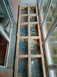 Установка балконного витража с обшивкой стен декоративной панелью по адресу проспект Республики 11 5