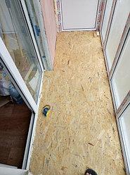 Установка балконного витража с обшивкой стен декоративной панелью по адресу проспект Республики 11 6