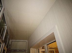 Установка балконного витража с обшивкой стен декоративной панелью по адресу проспект Республики 11 26