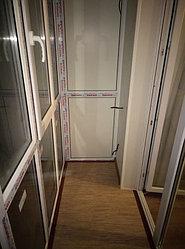 Установка балконного витража с обшивкой стен декоративной панелью по адресу проспект Республики 11 24