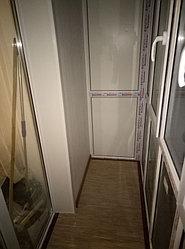 Установка балконного витража с обшивкой стен декоративной панелью по адресу проспект Республики 11 25