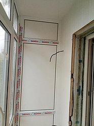 Установка балконного витража с обшивкой стен декоративной панелью по адресу проспект Республики 11 21