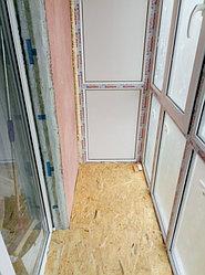 Установка балконного витража с обшивкой стен декоративной панелью по адресу проспект Республики 11 14