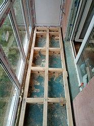 Установка балконного витража с обшивкой стен декоративной панелью по адресу проспект Республики 11 3