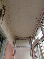 Установка балконного витража с обшивкой стен декоративной панелью по адресу проспект Республики 11 18