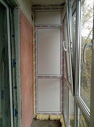 Установка балконного витража с обшивкой стен декоративной панелью по адресу проспект Республики 11 13