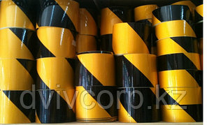 Лента световозвращающая черно-желтая 5 см