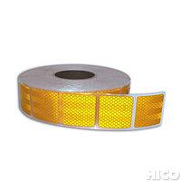 Светоотражающая лента желтая для маркировки тентов - желтая сегментированная, фото 1