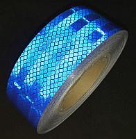 Светоотражающая лента синяя для маркировки тентов