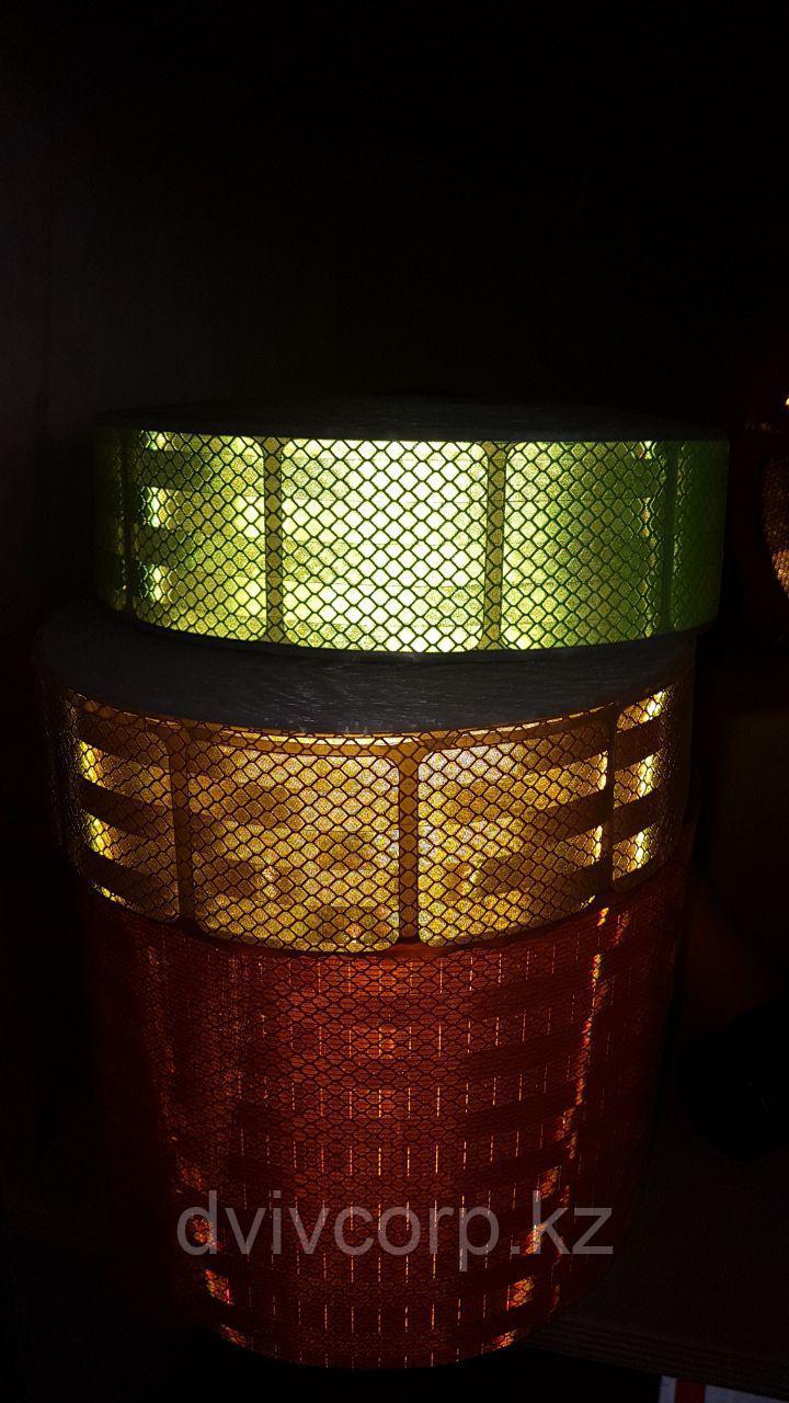 Светоотражающая лента зеленая для маркировки тентов -  сегментированная