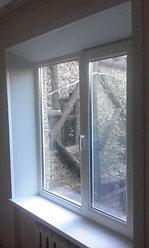 Установка пластикового окна с откосами из ПВХ.