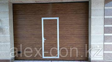 Секционные ворота с калиткой, фото 2