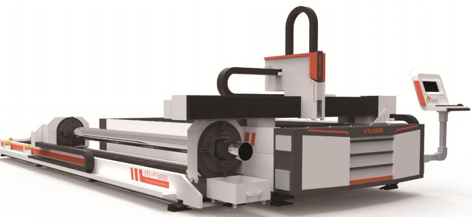 Оборудование для волоконной лазерной резки плит и труб 3 метра / 6 метров (XTC-FT3000/6000)