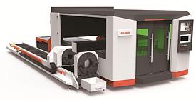 Оборудование для волоконной лазерной резки плит и труб 3 метра закрытого типа / 6 метров (XTC-FT3000/6000)