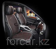 Накидки на передние сидения «CAPRI» черный/черный/красный