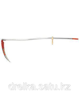 Коса ручная набор 39829-6, Косарь-ММ, с удлиненным металлическим косовищем №6, 60 см