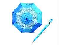 Зонт синий с узорами