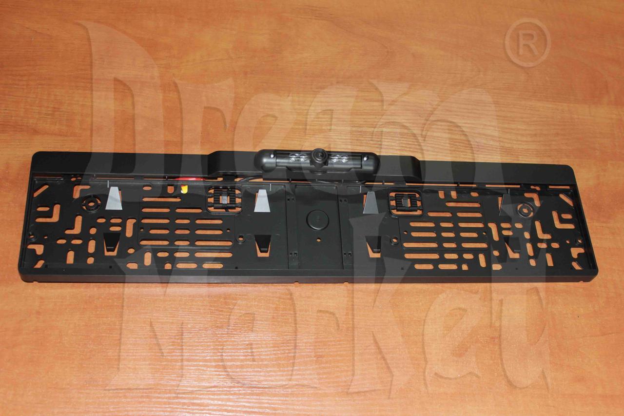 Камера заднего вида X08, рамка для номера, с разметкой, цветная