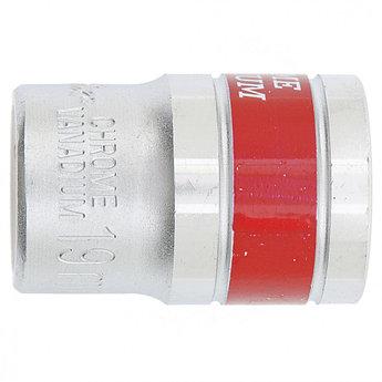 """(13119) Головка торцевая, 19 мм, 6-гранная, CrV, под квадрат 1/2"""", хромированная// MATRIX MASTER"""