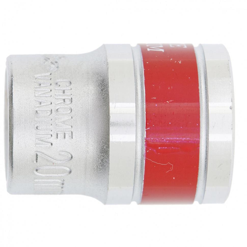(13120) Головка торцевая, 20 мм, 6-гранная, CrV. под квадрат 1/2 хромированная // Matrix Master