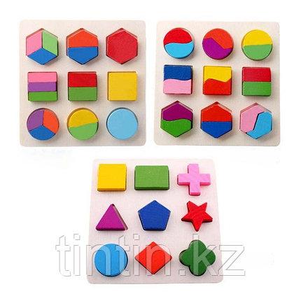 Сортер-вкладыши с геометрическими фигурками, 20х20см, фото 2