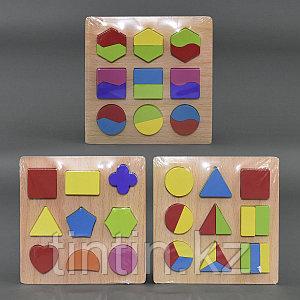 Сортер-вкладыши с геометрическими фигурками, 20х20см
