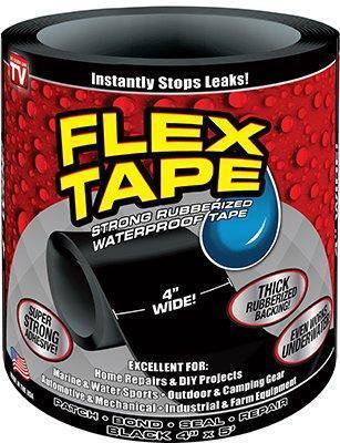 Водонепроницаемая изоляционная лента Flex Tape, цвет черный
