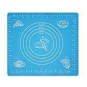 Коврик-подложка для раскатывания теста, 26х29 см, цвет голубой