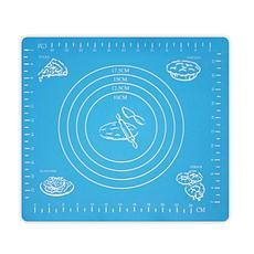 Коврик-подложка для раскатывания теста, 29х26 см, цвет голубой, фото 3