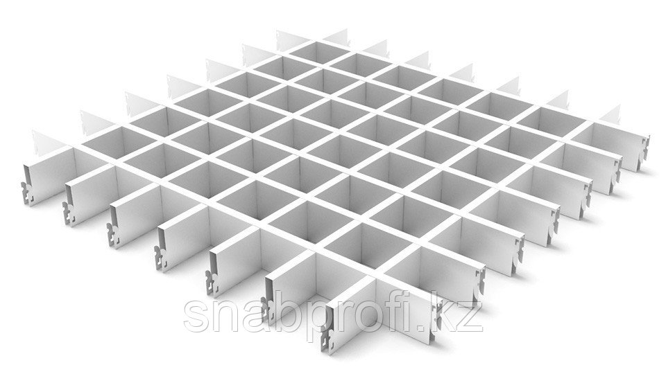 Потолок грильято белый матовый
