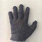 Перчатки х/б серые, фото 2