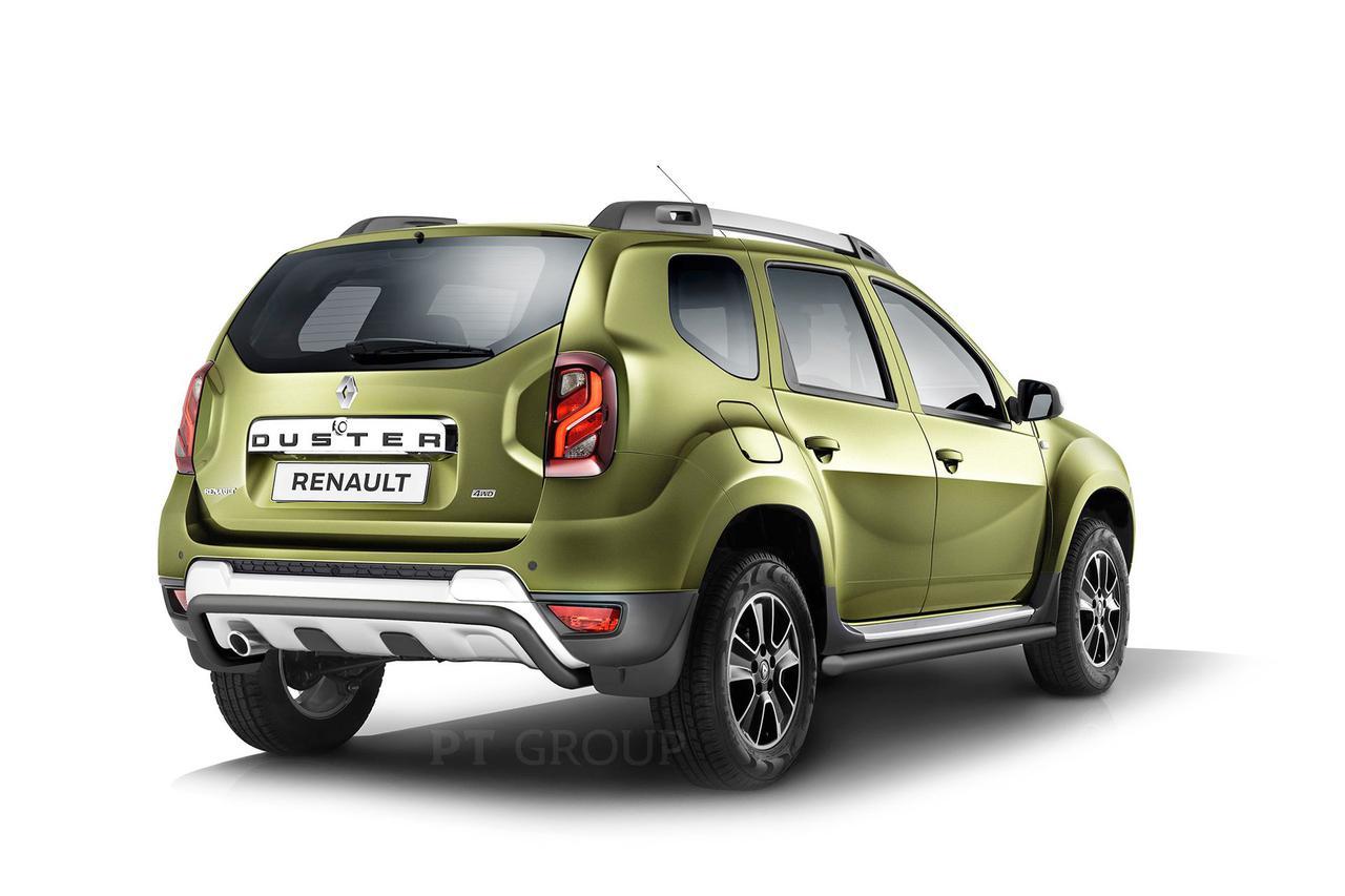 Защита заднего бампера 51мм (Шагрень) Renault Duster