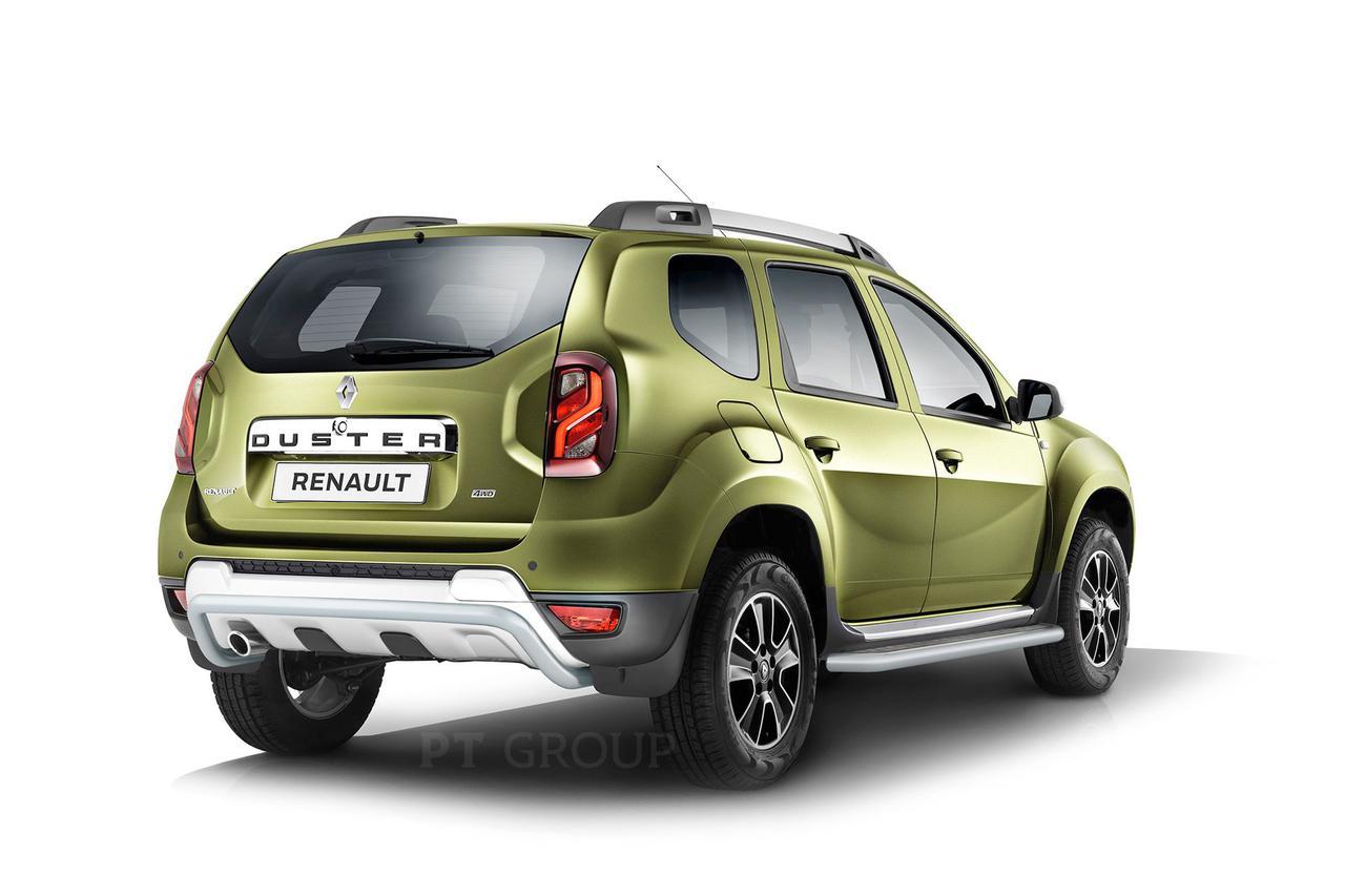 Защита порогов с алюминиевой площадкой 51мм (Искра) Renault Duster