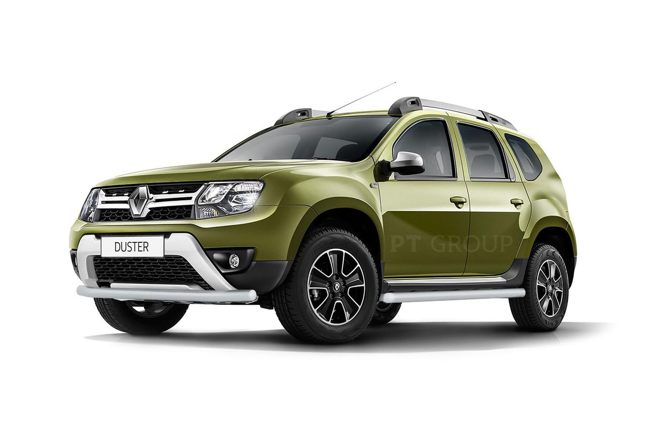 Защита порогов 63мм (Искра) Renault Duster