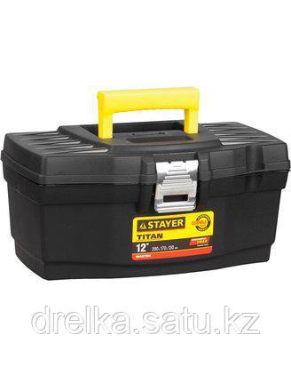 Ящик для инструментов STAYER 38016-12, MASTER, пластиковый, 290 x 170 x 130 мм, 12 дюймов