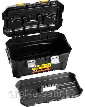 Ящик для инструментов STAYER 38016-19, MASTER, пластиковый, 490 x 290 x 270 мм, 19 дюймов , фото 2