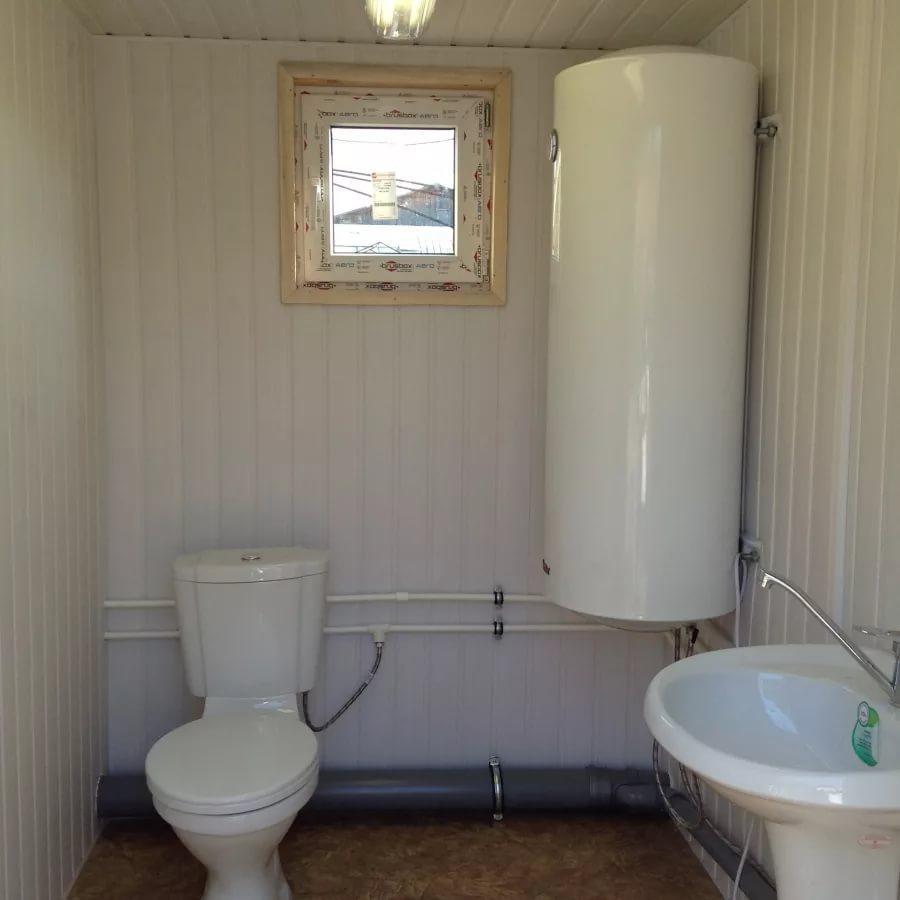 Сантехнический вагон - туалет из сэндвич панели