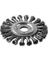 Щетка дисковая для УШМ, плетеные пучки стальной проволоки 0,5мм, 125х22мм, ЗУБР
