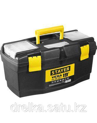 """Ящик для инструментов STAYER 38105-18_z03, VEGA, пластиковый с органайзерами, 19"""""""