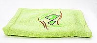 Полотенце банное, махровое, зеленое, 135*62 см