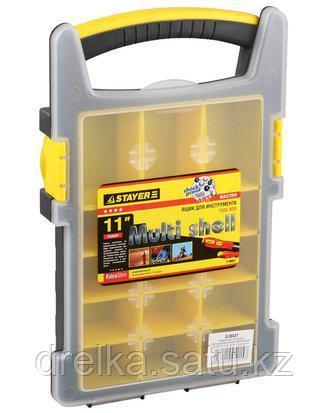 Ящик для инструментов STAYER 2-38031, MULTYSHEL, пластмассовый, 11 дюймов