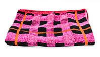 Полотенце банное, махровое, черно-розовое, 100*49 см